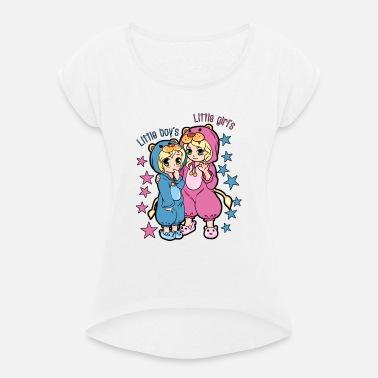 Söt pojke söt flicka Onesie pyjamas Premium T-shirt dam  8790979ab8b7e