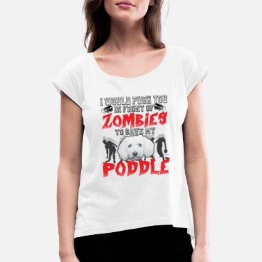 zombie poddle3 - Women's Rolled Sleeve T-Shirt