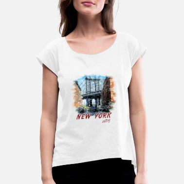 New York city - Women's Rolled Sleeve T-Shirt