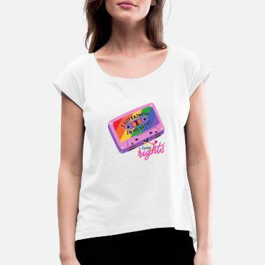 Spell LGBTQ | LGBT | Rainbow | Bisexual | Gay | - Women's Rolled Sleeve T-Shirt