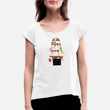 wedding cake - Women's Rolled Sleeve T-Shirt