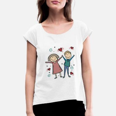 Engagement Party We Are Engaged - Women's T-Shirt with rolled up sleeves