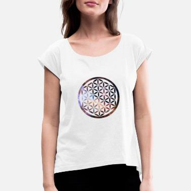 Flower Of Life Flower of Life Shirt - Women's T-Shirt with rolled up sleeves