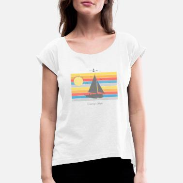 Yachting Holiday Sailing yachting holiday travel gift - Women's Rolled Sleeve T-Shirt