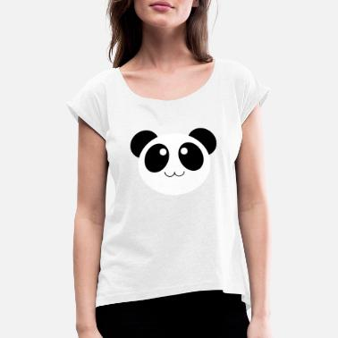 dc2ee79b84a10c Panda Kleidung Panda süß putzig Baby Geschenk Kleidung - Frauen T-Shirt mit  gerollten Ärmeln