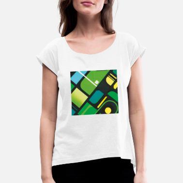 Patrón elegante regalo navidad cumpleaños - Camiseta con manga enrollada  mujer 7a1deafec04