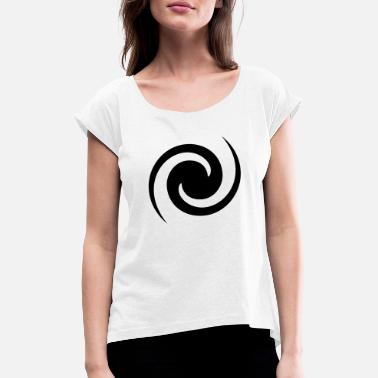 Hole Spiral Galaxy, Black Hole - Women's Rolled Sleeve T-Shirt