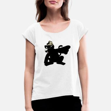 Ape mad monkey - Women's Rolled Sleeve T-Shirt