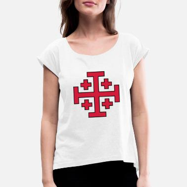 Jerusalem Jerusalem Cross - Women's Rolled Sleeve T-Shirt
