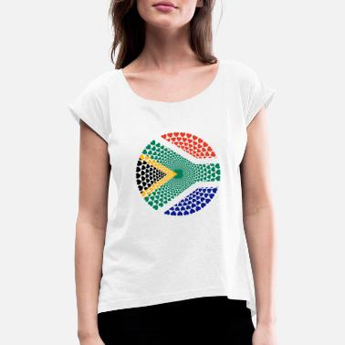 South South Africa South Africa Love HERZ Mandala - Women's Rolled Sleeve T-Shirt