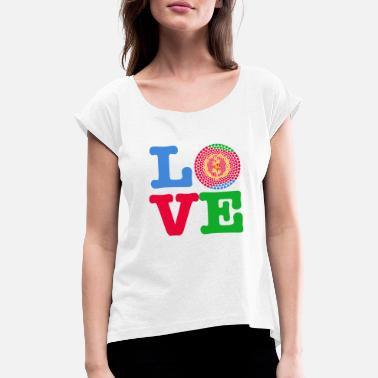 Eritrea ERITREA HEART - Women's T-Shirt with rolled up sleeves