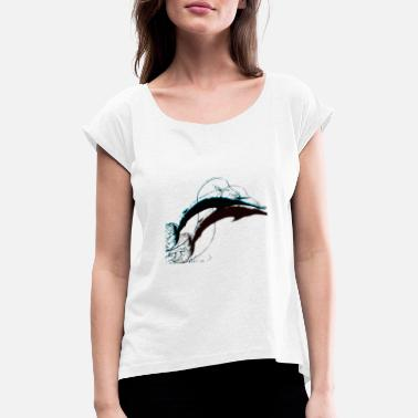 JOMAS Big Game Swordfishing - Women's Rolled Sleeve T-Shirt
