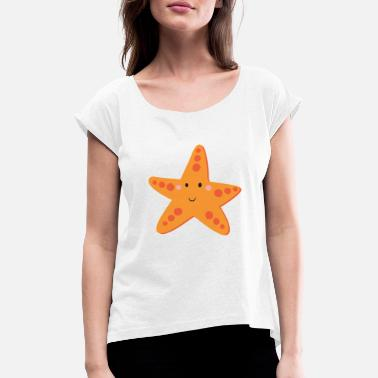 Starfish starfish - Women's Rolled Sleeve T-Shirt