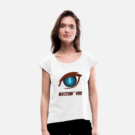 Love T-Shirts - watching - Women's Rolled Sleeve T-Shirt white