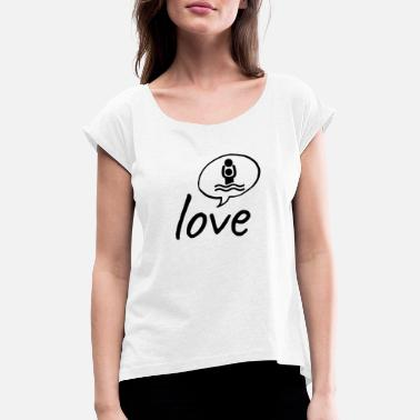 Water Polo Love: Water polo - Women's Rolled Sleeve T-Shirt