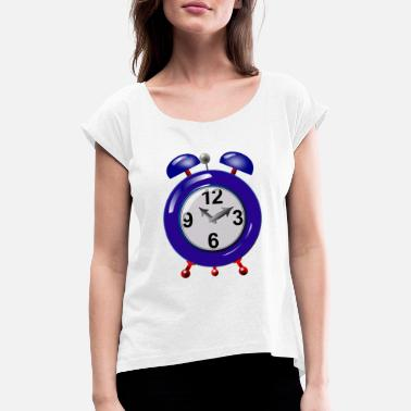 Alarm Clock alarm clock - Women's Rolled Sleeve T-Shirt