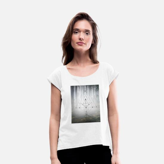 Forest T-Shirts - Forest - Women's Rolled Sleeve T-Shirt white