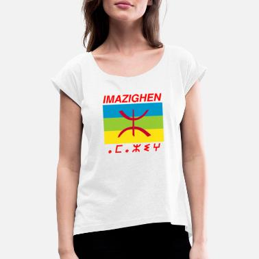 Amazigh IMAZIGHEN - Women's T-Shirt with rolled up sleeves
