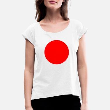 3b9168d96b16de Rot Mit Weißen Punkten Roter Punkt Japan - Frauen T-Shirt mit gerollten  Ärmeln