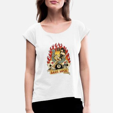 Lady Luck LADY LUCK TATTOO - Women's T-Shirt with rolled up sleeves
