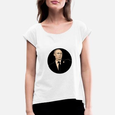 Putin putin - Women's Rolled Sleeve T-Shirt