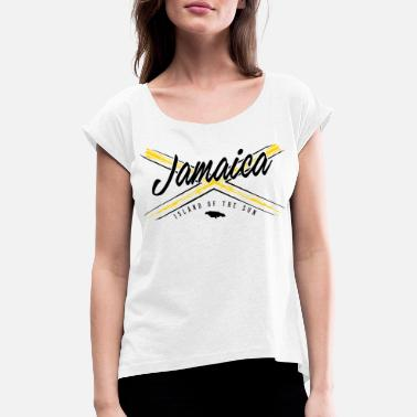Jamaica Jamaica Flag Islang of the sun - Women's Rolled Sleeve T-Shirt