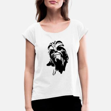 Chewbacca chewbacca monster fur hair star friend beard dart - Women's Rolled Sleeve T-Shirt