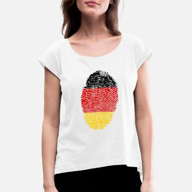 Imprint Imprint Germany Imprint with the flag Germany - Women's Rolled Sleeve T-Shirt