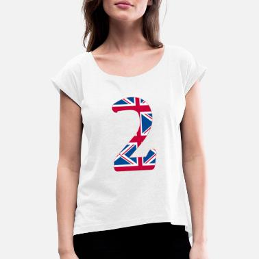 Lucky Number 2 - Women's Rolled Sleeve T-Shirt