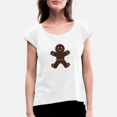 Gingerbread gingerbread - Women's Rolled Sleeve T-Shirt