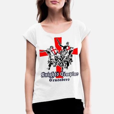 Crusader knights templar Holy Crusaders - Women's Rolled Sleeve T-Shirt