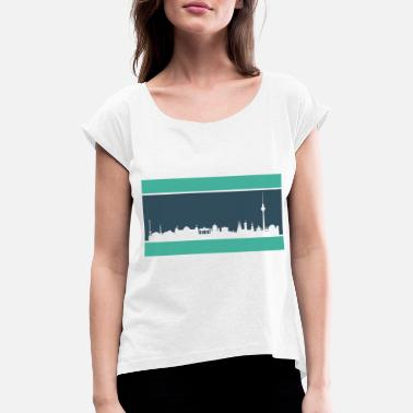 Skyline Of Berlin Berlin skyline - Women's Rolled Sleeve T-Shirt