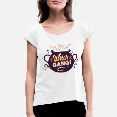 Witch Gang Halloween Party - Frauen T-Shirt mit gerollten Ärmeln