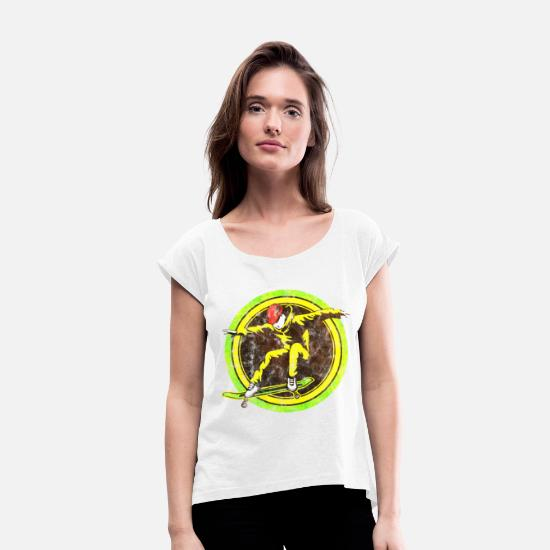 Gift Idea T-Shirts - Skateboard Skateboard Sk8 Boarder Gifts - Women's Rolled Sleeve T-Shirt white
