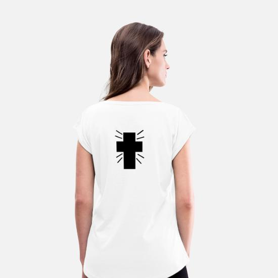 Cruise Ship T-Shirts - cross - Women's Rolled Sleeve T-Shirt white