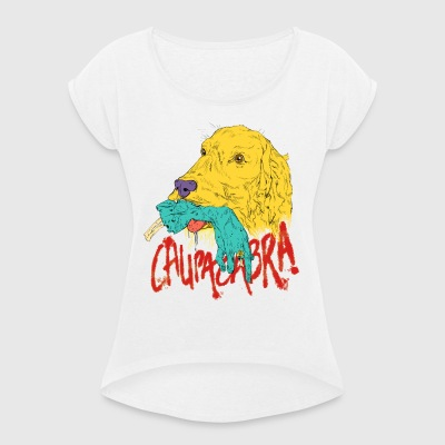 Chupacabra - Women's T-shirt with rolled up sleeves