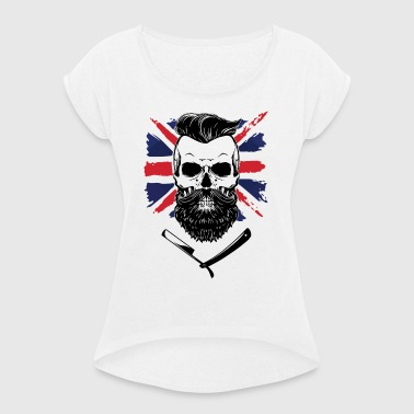 bearded union jack - Women's T-shirt with rolled up sleeves