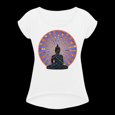 YOGA / MEDITATION / BUDDHA / INDIA - Women's T-shirt with rolled up sleeves