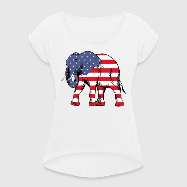 Republikanter - Women's T-shirt with rolled up sleeves