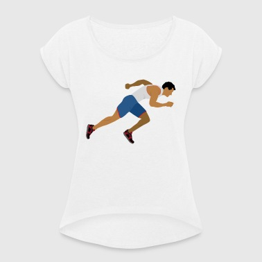 Athlete (sprinting) - Women's T-shirt with rolled up sleeves
