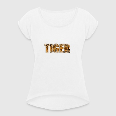 Tiger logo - Women's T-shirt with rolled up sleeves