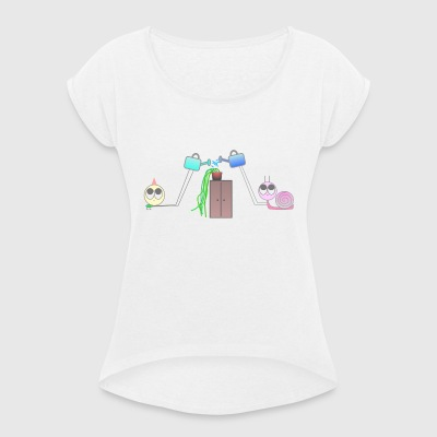 Friends & Plants - Women's T-shirt with rolled up sleeves