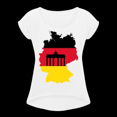 PROUD HOMELAND - Women's T-shirt with rolled up sleeves