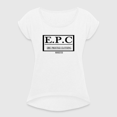 ERIC PRESTIGE CLOTHING - Women's T-shirt with rolled up sleeves