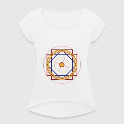 NAZCA LINES - Women's T-shirt with rolled up sleeves