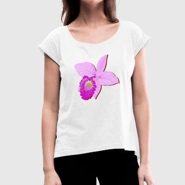 orchid - Women's T-shirt with rolled up sleeves
