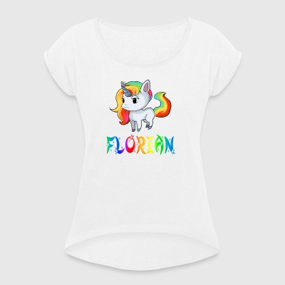 Florian unicorn - Women's T-shirt with rolled up sleeves
