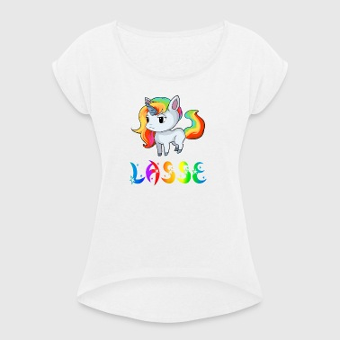 Unicorn Lasse - Women's T-shirt with rolled up sleeves