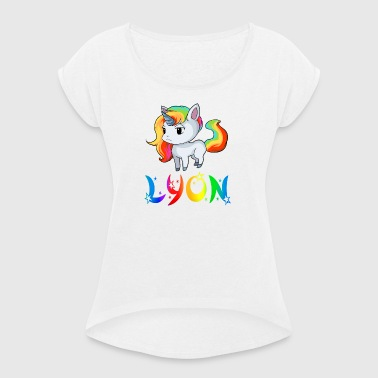 Unicorn Lyon - Women's T-shirt with rolled up sleeves