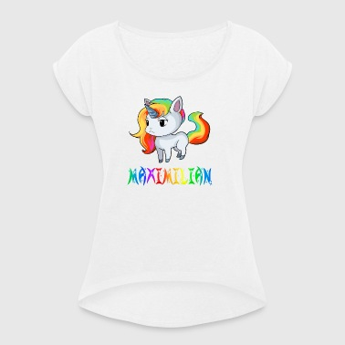 Unicorn Maximilian - Women's T-shirt with rolled up sleeves